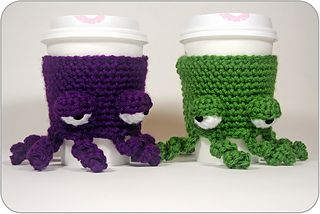 Grumpy Octopus Coffee Cup Cozy by Twinkie Chan - so cute!