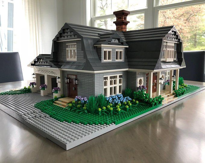 Custom Lego Model Home Interior Exterior Detail Etsy Lego House Model Homes Lego Architecture