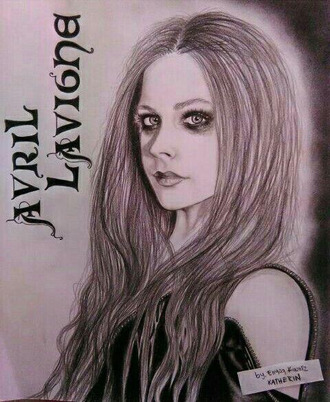 Avril Lavigne  Dibujo a lápiz carbón
