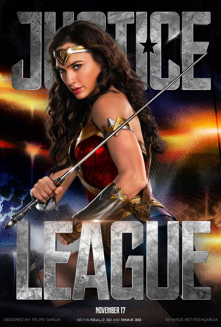 Justice League Movie Poster 2017 Featuring Gal Gadot as Diana Prince aka Wonder Woman, See the 19 Justice League Easter Eggs - DigitalEntertainmentReview.com