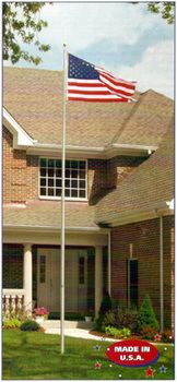 "Uncommon 25' Telescoping Flagpole 3"""" Heavy Duty"