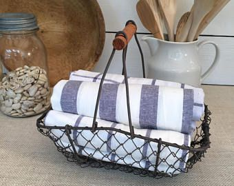 Vintage wire basket | Etsy