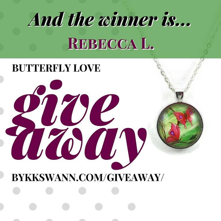 The winner of the March Giveaway for #ButterflyLove is @beccalaugh! CONGRATS! Msg me to claim your necklace!  April's Giveaway is #PickingCherries! Enter to win it here: http://ift.tt/2nTKAk2  #FantasyArtPendants #ByKKSwann feat. @drakeyart #DrakeyArt #butterfly #love #spring #fantasyart #fantasy #butterflynecklace #butterflyjewelry #butterflypendant #springjewelry #giveaway #entertowin #free #contest bykkswann.com/shop/