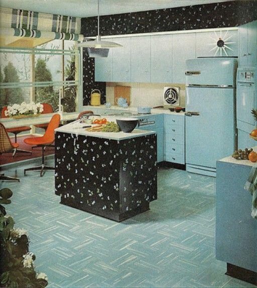 118 best images about vintage kitchens appliances on for 1950s kitchen floor