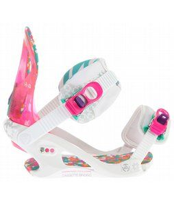 To go with the kitty board hahaha On Sale K2 Cassette LTD Snowboard Bindings White - Womens up to 45% off