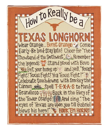 Take a look at this Texas 'How To' Canvas by Time to Tailgate: College Colors on #zulily today!