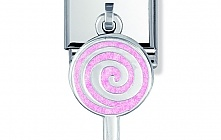 Nomination Stainless Steel and Sterling Silver Hanging Enamelled Lollipop Charm