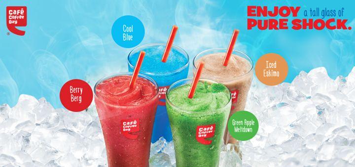 @Cafe Coffee Day introduces new drinks. .. .. .. .. .. .. .. .... .. .. .. .. .. .. .. .... .. .. .. .. .. ..   #cafecoffeeday #party #snack #bangalorebengaluru #india #bangalore #bengaluru #food #like #favorite #try #best  #drinks   #brainfreeze   #berryberg   #icedeskimo   #coolblue   #GreenAppleMeltdown  #blog