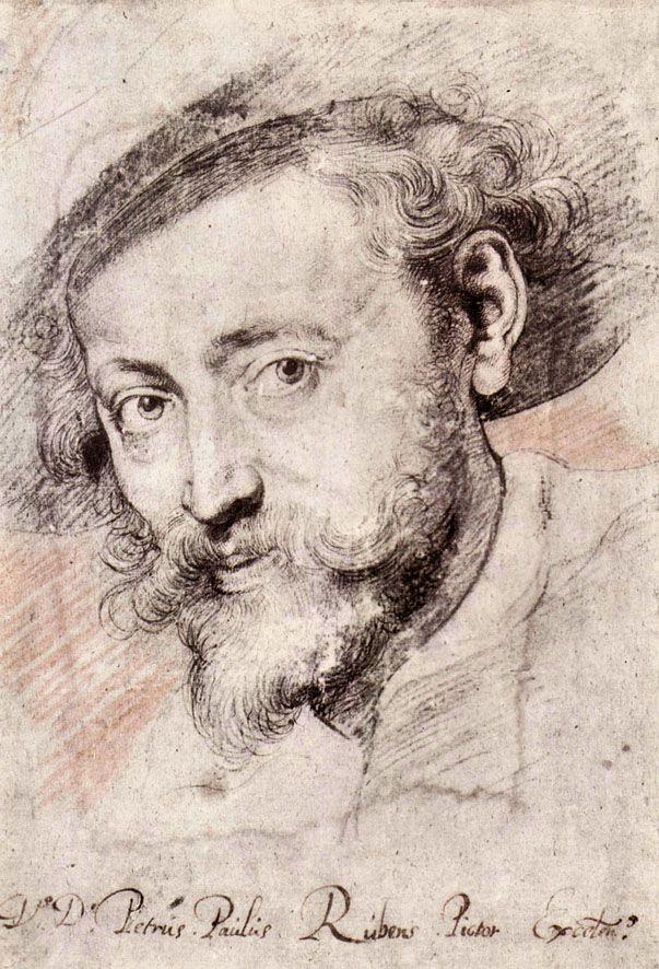 Peter Paul Rubens Drawings | Self-portrait reproduction oil painting