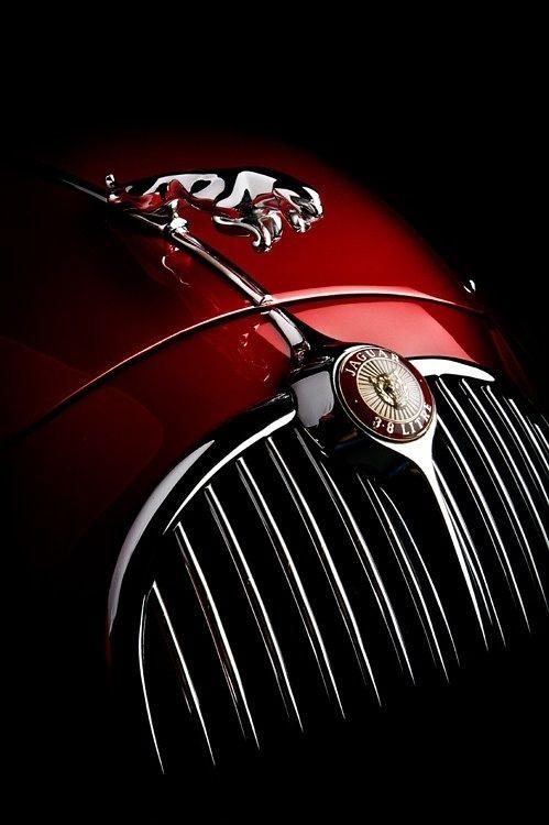 Classic red Jaguar