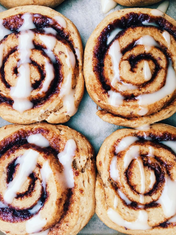 vegan cinnamon rolls with coconut butter icing
