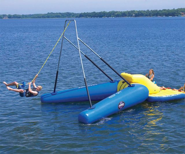 Floating Rope Swing | DudeIWantThat.com