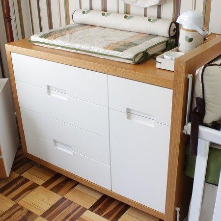 Cômoda Clean Freijó com 5 gavetas e porta! #comodas #moveisdebebe #enxovaldebebe
