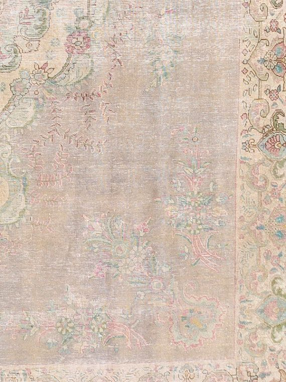 Overdyed Vintage Persian Rug 12 8 X 9 5 Ft 391 291 Cm Pink