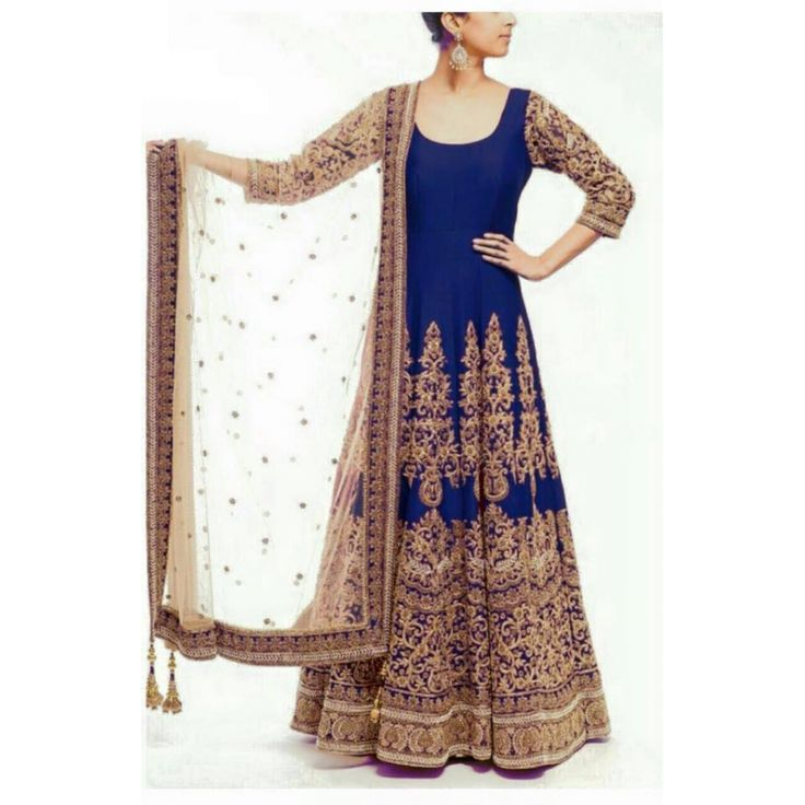 Awesome Blue Color Heavy Zari Work Embroiderey Work Semi Stitch Gown at just Rs.2475/- on www.vendorvilla.com. Cash on Delivery, Easy Returns, Lowest Price.