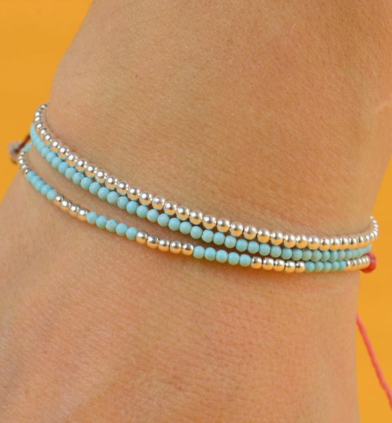 simple and pretty. turquoise and silver.
