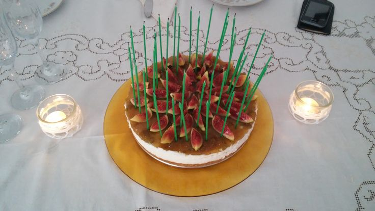 Cheesecake ai fichi...for my sister's Birthday