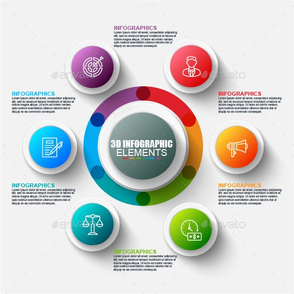 Business 3d circle infographics Template Vector EPS, AI Illustrator