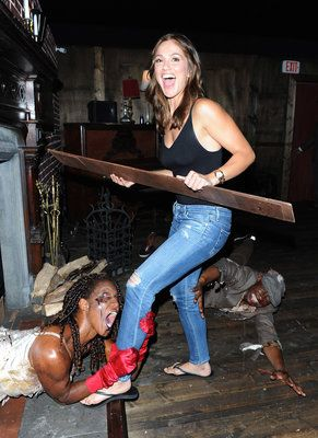 Minka Kelly at the Call of Duty: Black Ops 3 Zombies Escape Room Challenge during San Diego Comic Con on July 12.