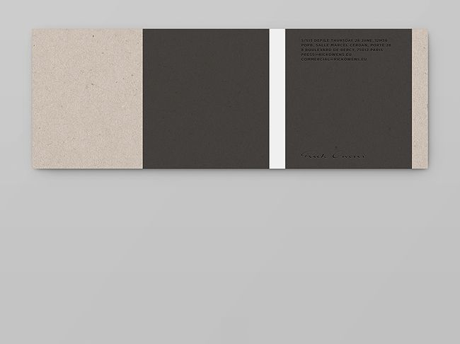 Notter + Vigne | invitations for the Rick Owens SS'13 show