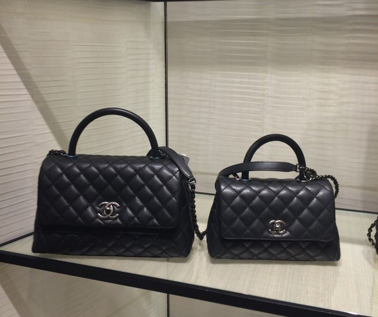 Chanel Black Coco Handle Mini and Small Bags