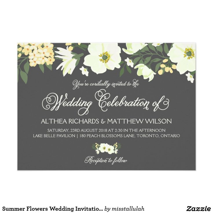 52 best watercolor wedding invitations images on pinterest summer flowers wedding invitation yellow gray stopboris Gallery