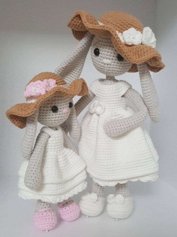 Crochet pattern amigurumi mom and baby bunny | amigurumi | Pinterest