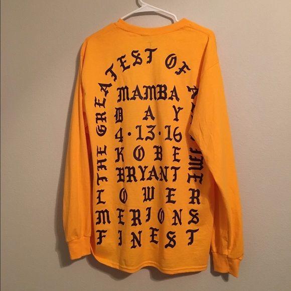 AUTHENTIC I feel like Kobe Shirt - Kanye West Authentic Kanye West - I feel like Kobe shirt. New never worn. Will ship same/next day. Kanye West Tops Tees - Long Sleeve