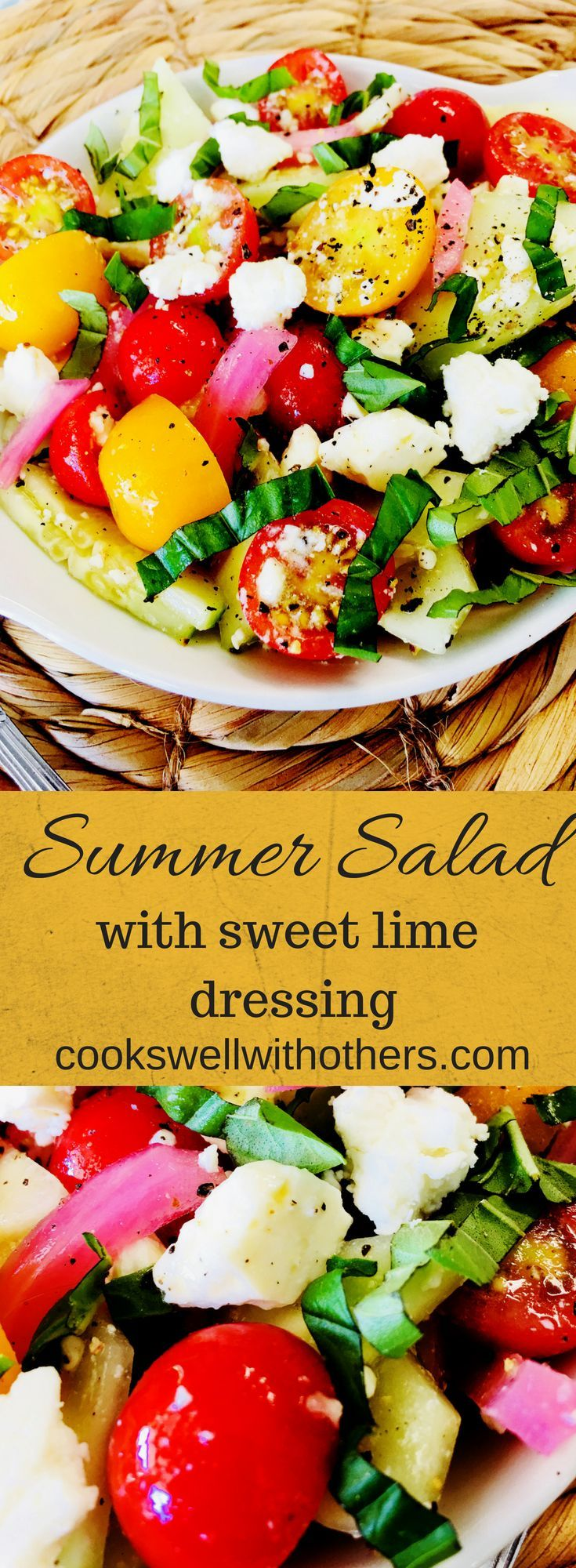 Summer Salad With Sweet Lime Dressing Cooks Well With Others Recipe Summer Salads Delicious Salads Summer Salad Recipes [ 2000 x 735 Pixel ]