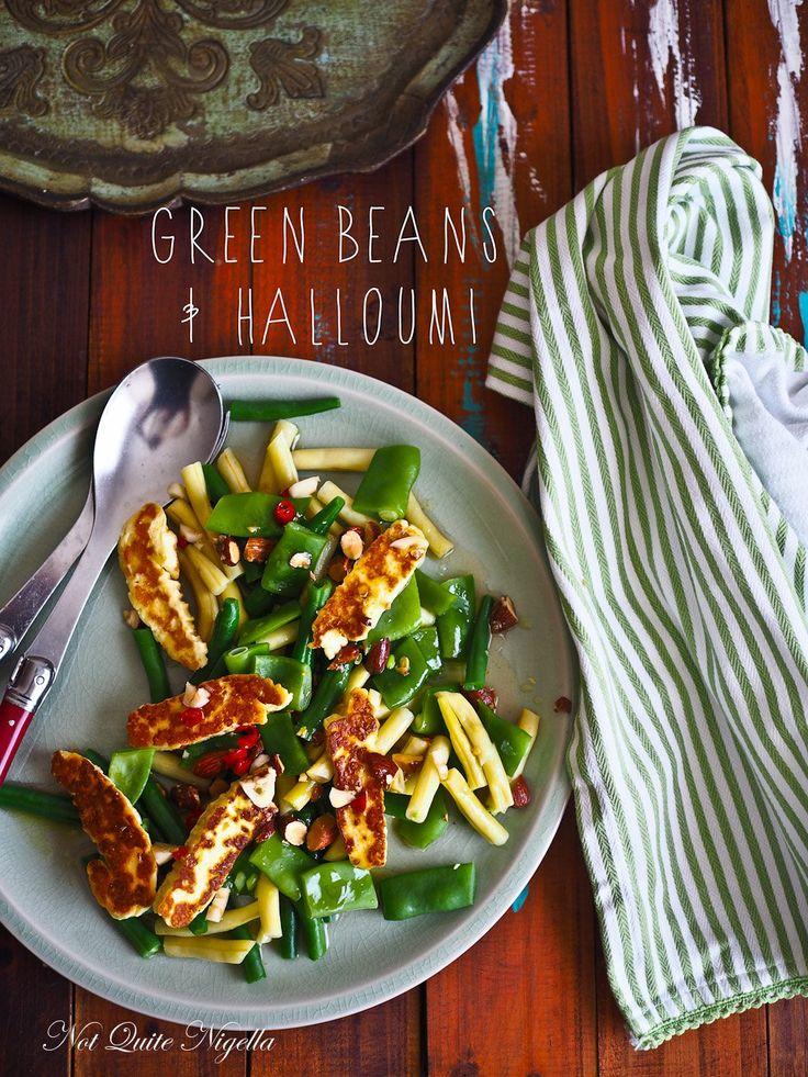 Crunchy Fresh Summer Green & Yellow Bean Halloumi Salad
