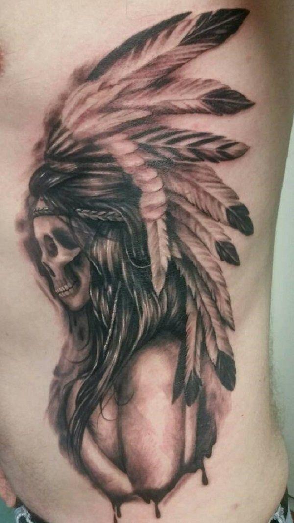 263ffd5c5 Native American Skull Tattoo - 70 Native American Tattoo Designs <3 <3