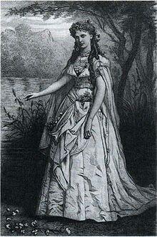 Christine Nilsson as Ophélie