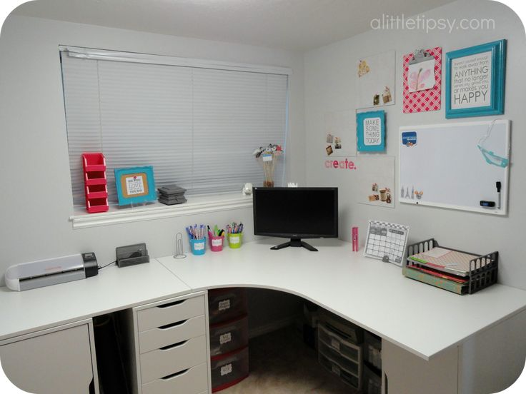 Corner desk using IKEA galant top and Alex drawer units