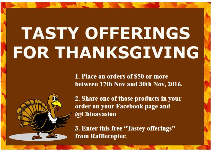 Thanksgiving is coming, what do you expect for #Chinavasion? What about a free Rugged phone up to $250?