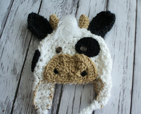 Baby Cow Costume - Cow Hat and Overalls