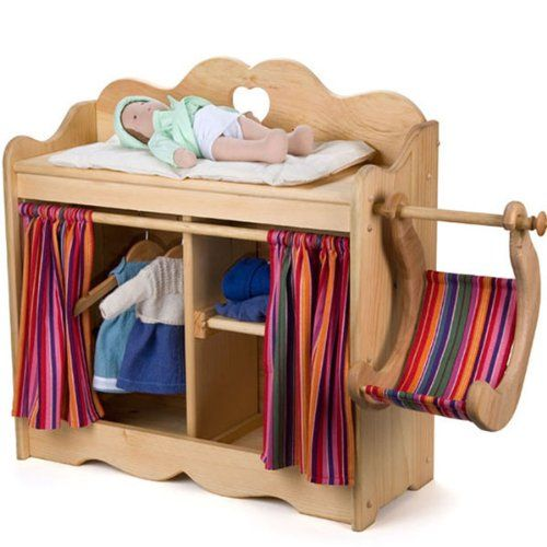 Wooden doll changing table baby doll furniture accessories pinterest the o 39 jays swings Wooden baby doll furniture