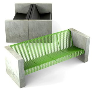 Mobiliário urbano | Banco Quad | #urbanism #design