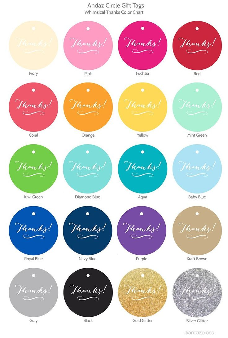 Color chart rainbow - Andaz Press Whimsical Happy Birthday Color Chart Birthday Gift Tags And Favor Tags