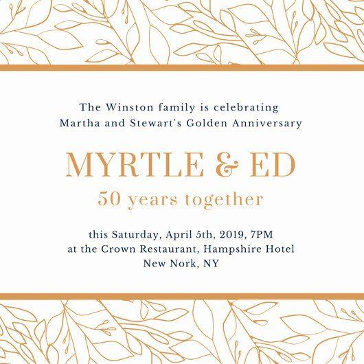 Wedding Anniversary Invite Template Elegant Customize 360 Vintage Anniversary Invitations Wedding Anniversary Invitations 50th Wedding Anniversary Invitations