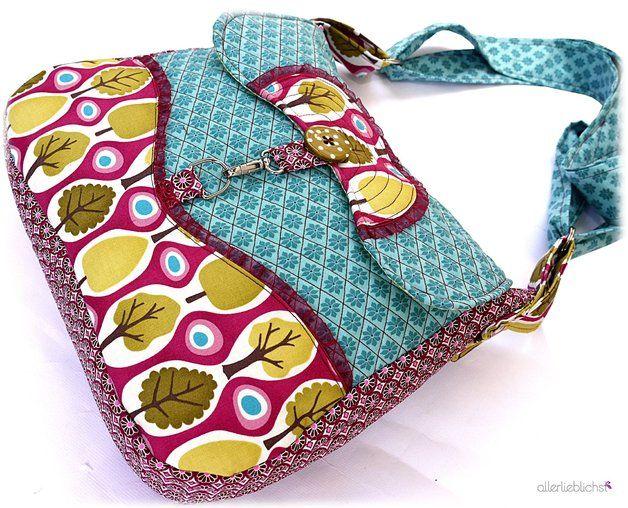 Nähanleitung für eine Umhängetasche, Schnittmuster / crafting instruction for shopper bag, sewing made by allerlieblichst via DaWanda.com