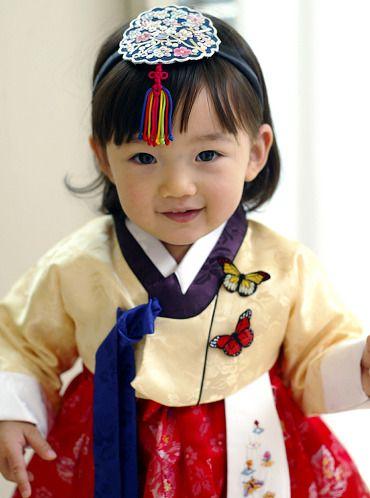 She`s so cute in her 한복 Hanbok