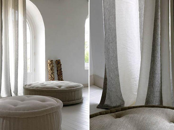 Linen fabric for curtains EDITO by Élitis