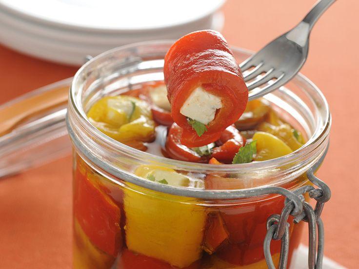 Come fare i peperoni sottolio con feta