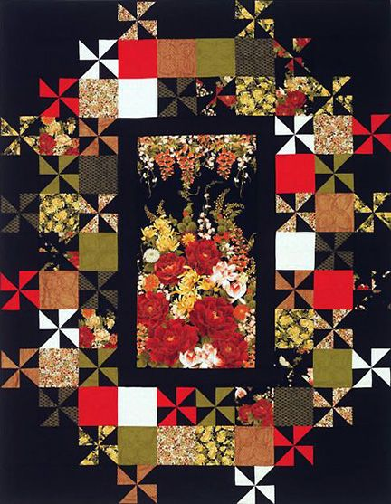 Asian or japanese quilt borders