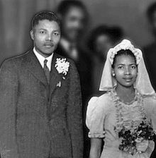 Nelson Mandella and first wife Evelyn Mase. She became one of Jehovah's Witnesses.