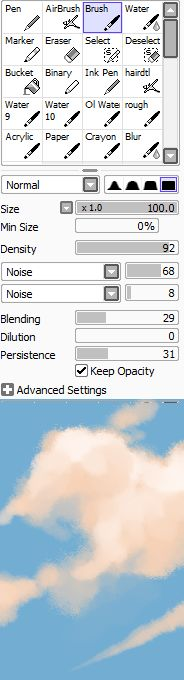 the single greatest cloud brush I've worked with so far oh my god