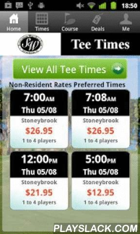 Stoneybrook Orlando Tee Times  Android App - playslack.com , The Stoneybrook Orlando golf app includes custom tee time bookings with easy tap navigation and booking of tee times. The app also supports promotion code discounts with a deals section, course information and an account page to look up past reservations and share these reservations with your playing partners via text and email.