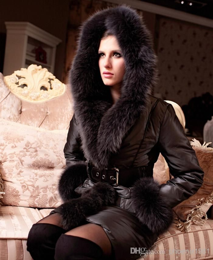 2014 Luxury womens down coat with fox fur collar white duck down jackets for women ultralarge thickening plus size hood dropship.jpg (700×856)