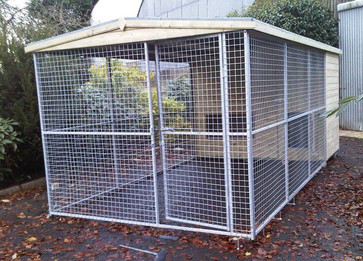11 best dog kennels images on pinterest dog kennels for Dog kennel in garage ideas