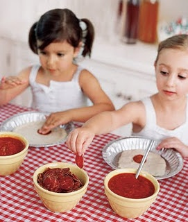 pizza party -- I like this better than cookie parties because you can make healthy pizzas!